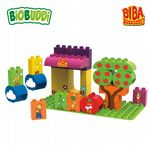 BiOBUDDi - Biba Market Stall - Eco Friendly Block Set - 32 Blocks